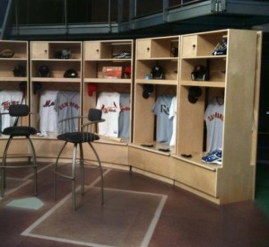 Baseball Wood Lockers